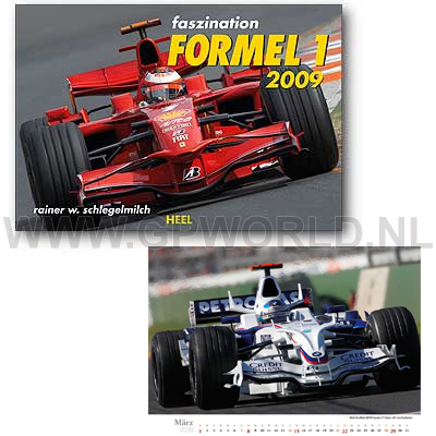2009 faszination formel 1 kalender gpworld racing merchandise. Black Bedroom Furniture Sets. Home Design Ideas