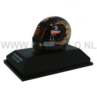 1997 Valentino Rossi helm - 1/8 Minichamps - GPworld Racing Merchandise